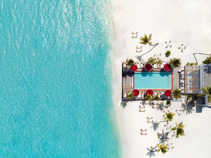 Vue du Beach Rouge, l'endroit idéal pour se détendre