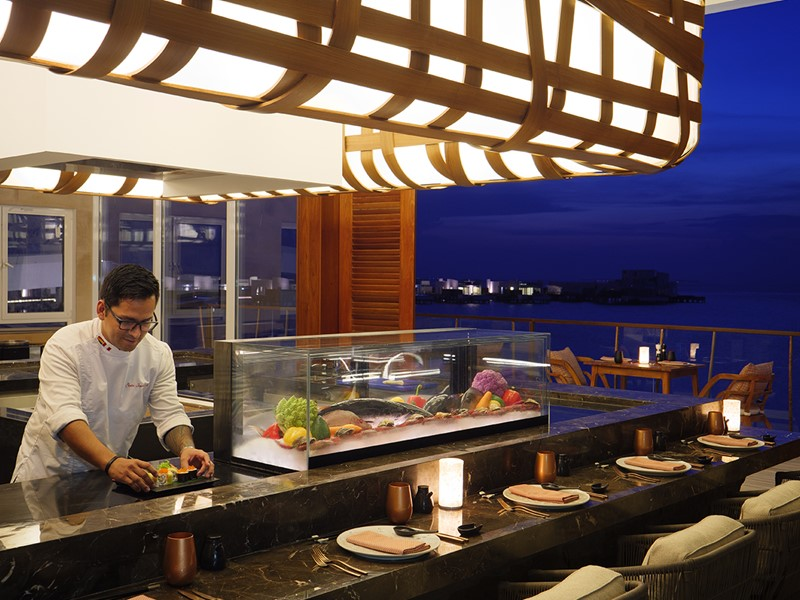 Le restaurant Inti du LUX* North Malé aux Maldives