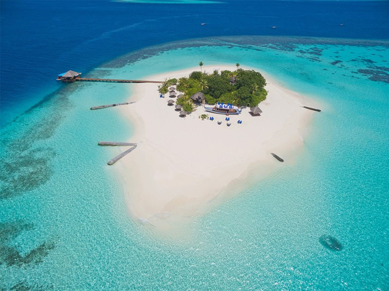 Vue aérienne de Lonobu Island