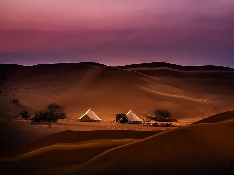Le Magic Private Camps est situé au coeur du magnifique désert Wahiba Sands