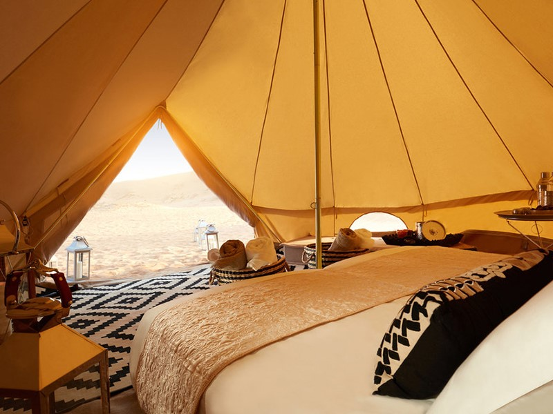 Les tentes du Magic Private Camps sont décorées dans l'esprit des Mille et Une Nuits