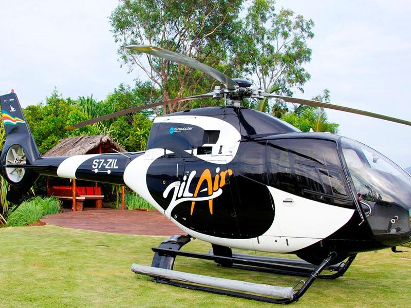 Rejoignez l'établissement en hélicoptère