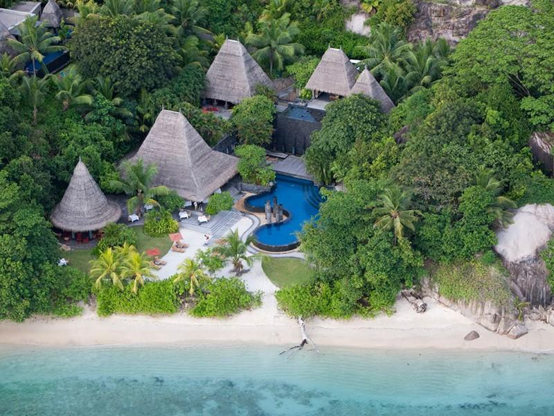 Vue aérienne du MAIA Luxury Resort aux Seychelles