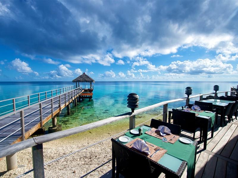 Restaurant face à l'océan