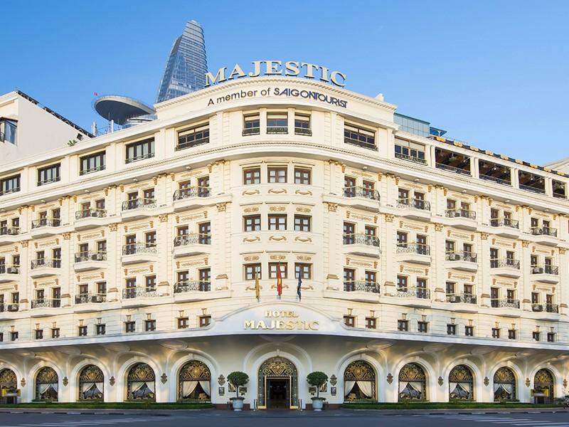 Vue du Majestic Saigon, un hôtel historique au charme colonial