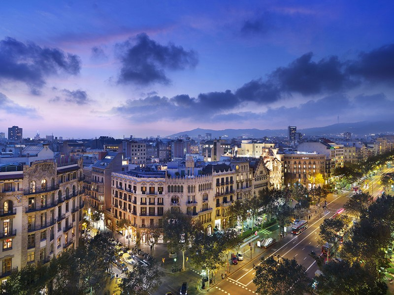 Vue de la ville depuis le Mandarin Oriental