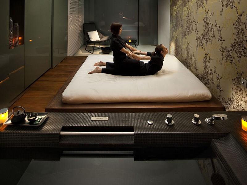 Massage au spa de l'hôtel 5 étoiles Mandarin Oriental
