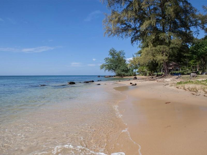 La plage de l'hôtel Mango Bay situé sur l'île de Phu Quoc