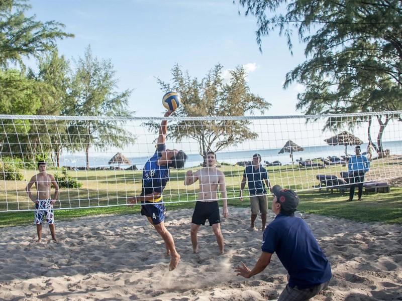 Beach volley à l'hôtel Mango Bay situé au Vietnam