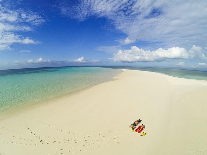 La plage du Manta Resort