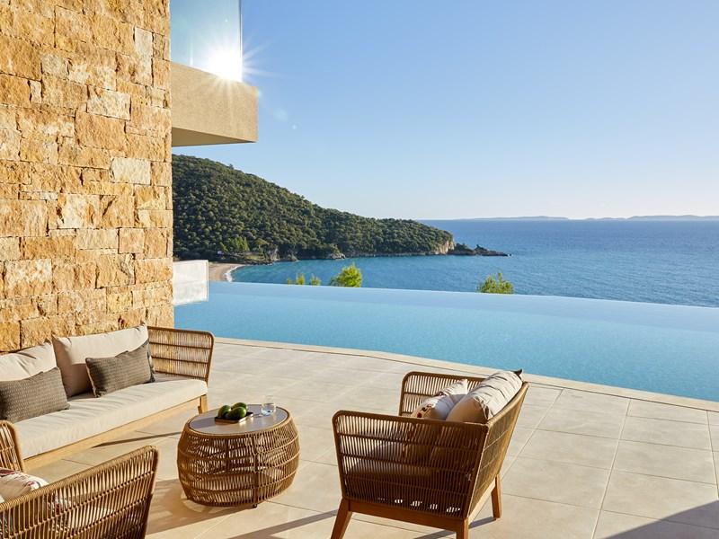 La Suite Junior Panorama Mer piscine privée