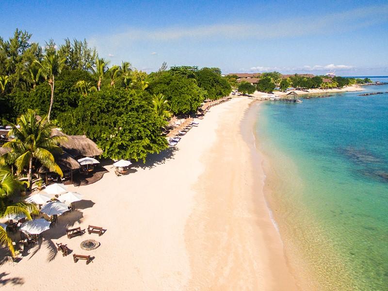 La magnifique plage du Maritim Resort & Spa Mauritius