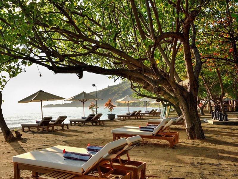 La plage du Matahari Beach Resort à Bali