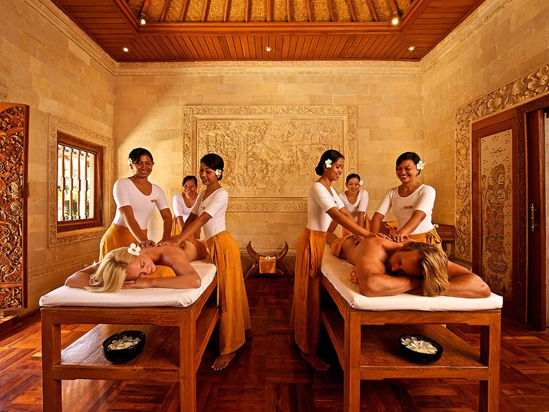Massage au spa du Matahari Beach Resort à Bali