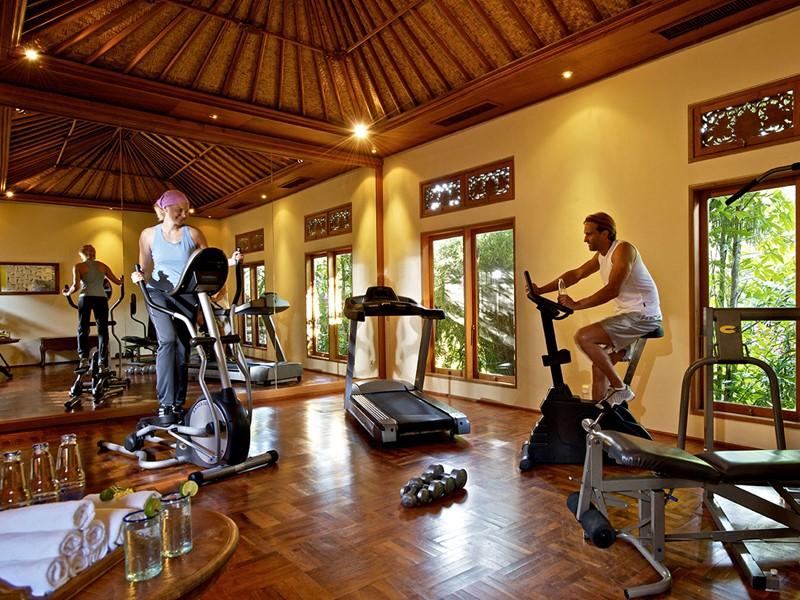 Salle de sport du Matahari Beach Resort situé à Bali