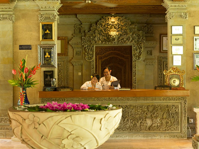 La réception du Matahari Beach Resort à Bali