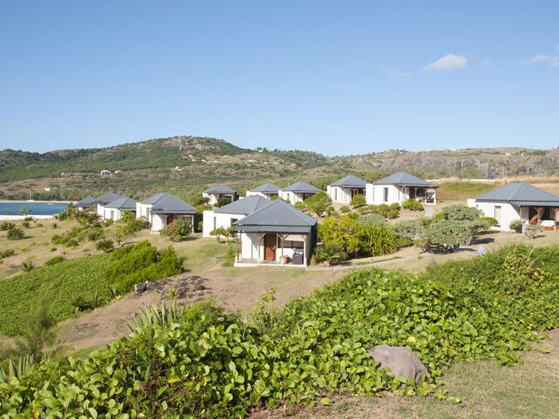 Les villas du Tekoma posées face à la mer
