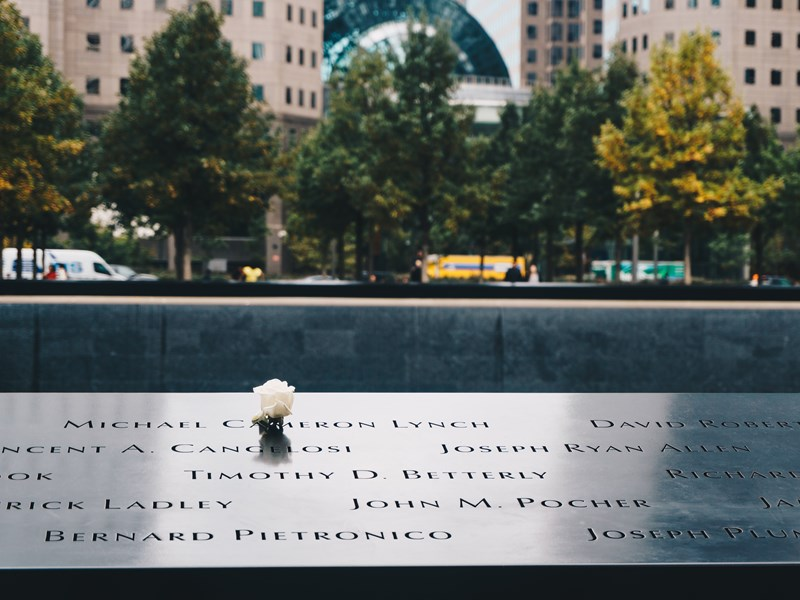 Le Memorial du 11 septembre, aux pieds de la One Word Trade Center