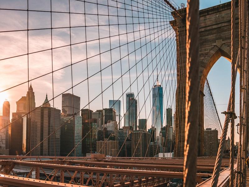 Le mythique Brooklyn Bridge, l'un des ponts les plus anciens du pays