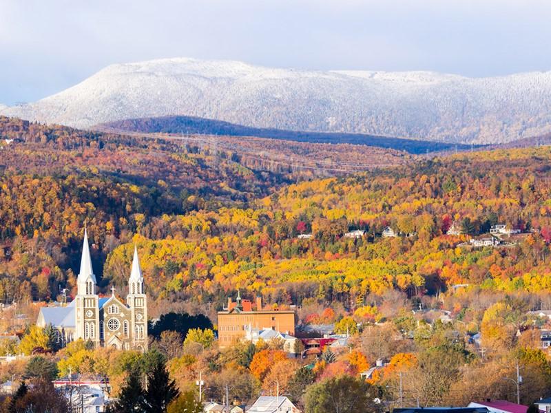 Le petit village de Baie Saint-Paul,et son paysage exceptionnel