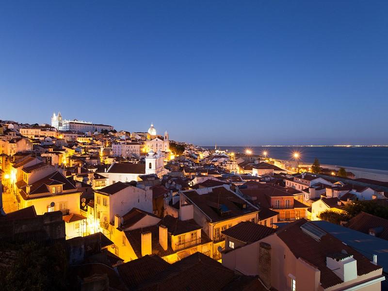 Splendide vue sur l'un des quartiers emblématiques de Lisbonne