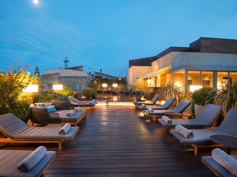 Détendez vous sur la terrasse du Mercer Hotel Barcelona
