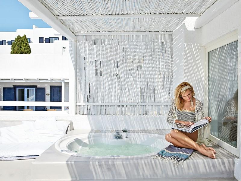 Luxury Bungalow Jacuzzi® Extérieur du Mykonos Blu