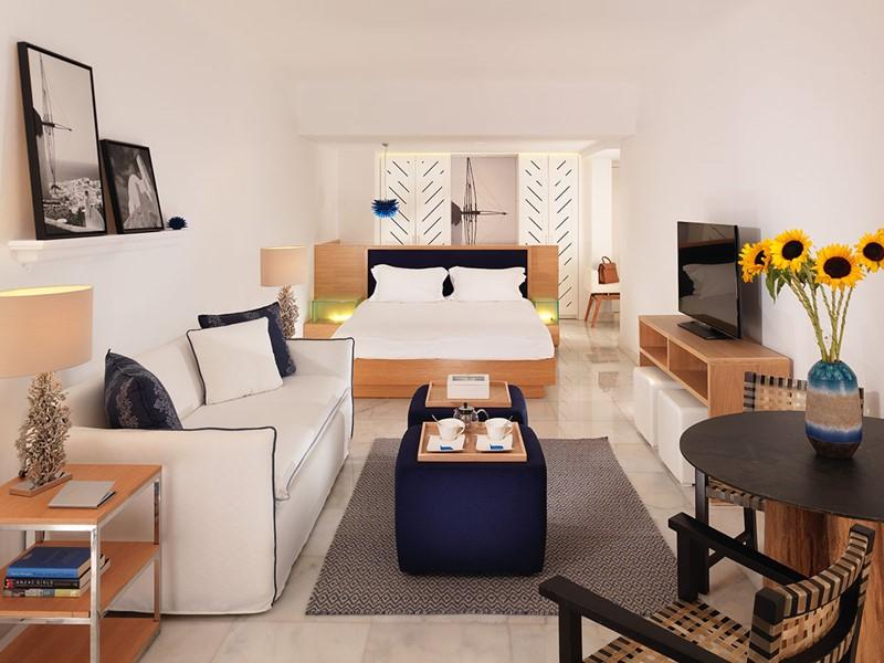 Open Plan Suite de l'hôtel Mykonos Grand en Grèce