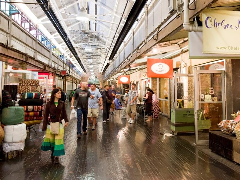 Chelsea Market, un marché couvert aux allures de galerie industrielle dans lequel vous trouverez tout type de cuisine