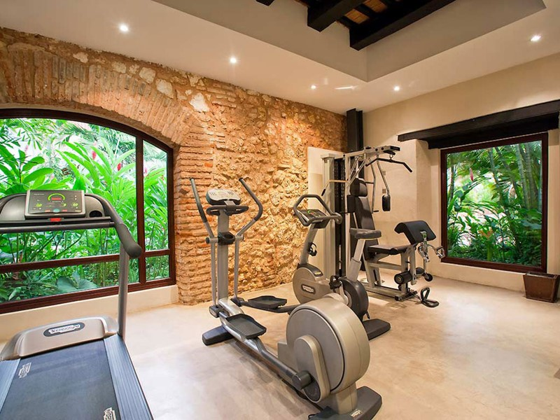 La gym de l'hôtel Nicolas de Ovando à St-Domingue