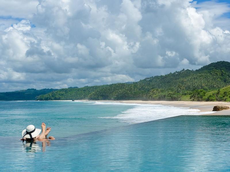 Splendide vue sur l'océan depuis le Nihi Sumba en Indonésie