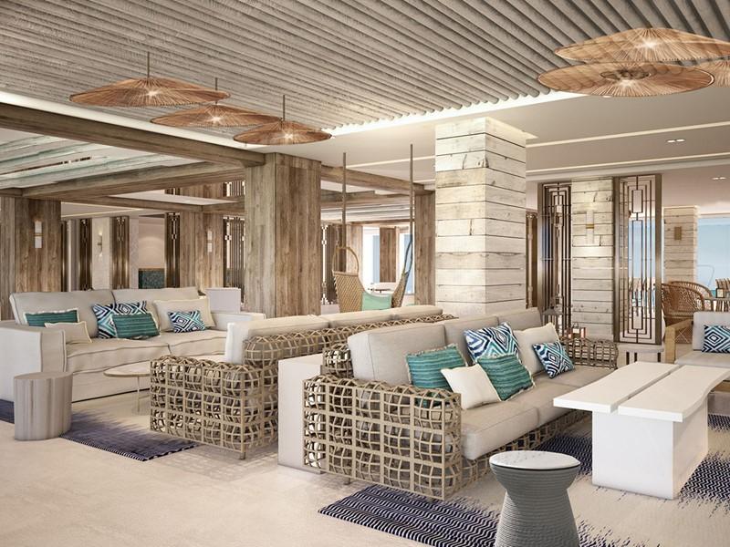 Le lobby du Nobu Hotel, une adresse tendance situé à Ibiza