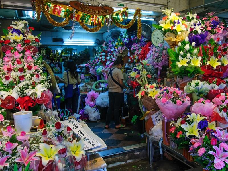 Le marché aux fleurs de Pak Khlong Talat