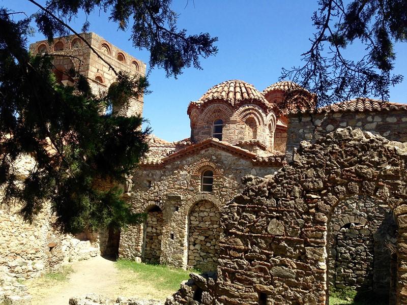 Eglise Orthodoxe de la cité Byzantine de Mystra