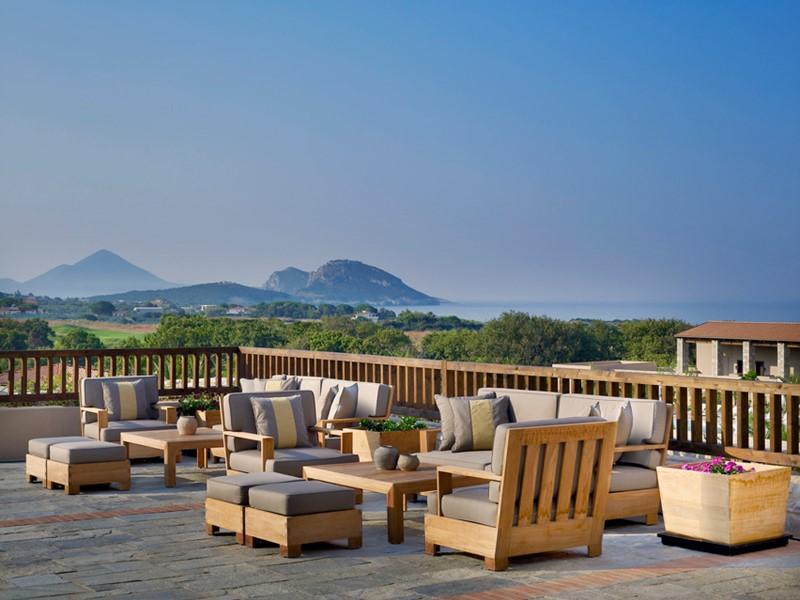 Terrasse de l'hôtel Westin Costa Navarino