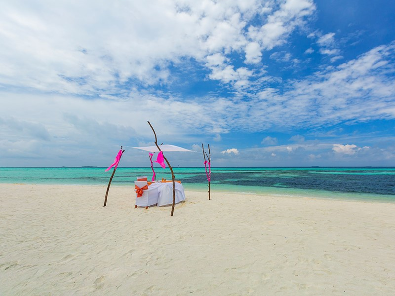 Repas romantique sur la plage
