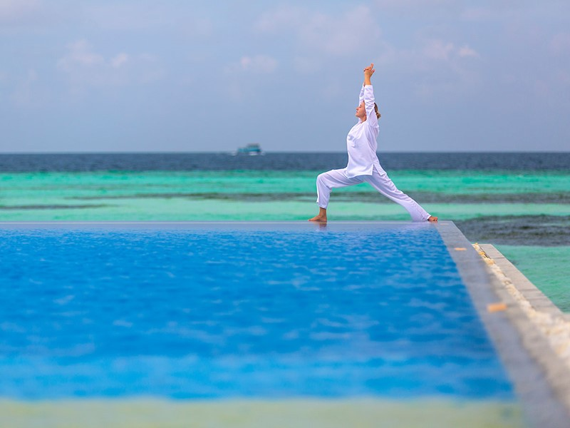 Yoga à l'hôtel Olhuveli Beach & Spa Resort