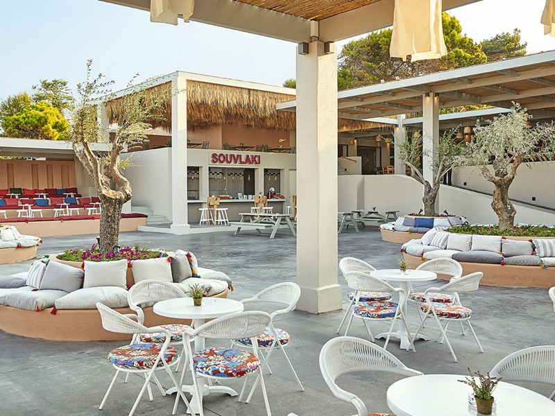 Le restaurant Souvlaki de l'Olympia Oasis en Grèce
