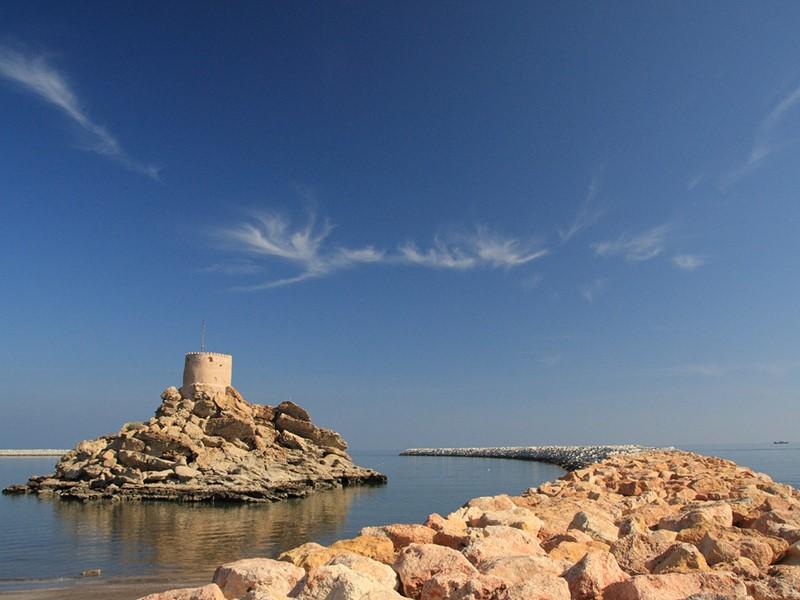 Forts portugais qui gardent l'entrée du port