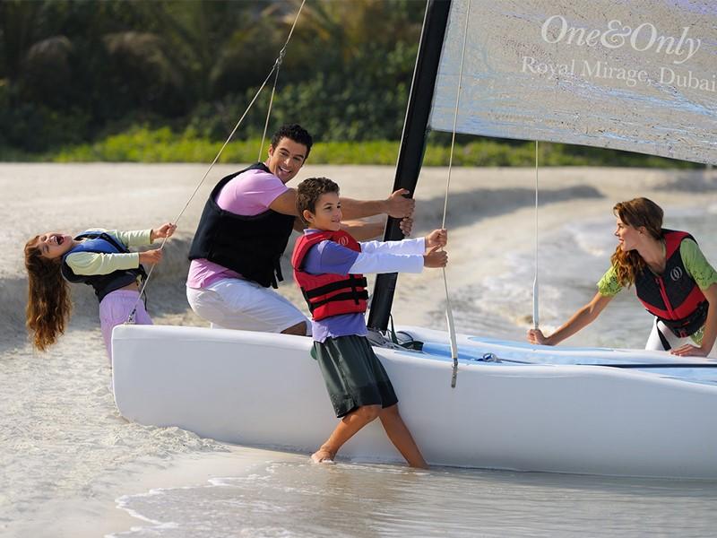 Activité nautique de l'hôtel Royal Mirage à Dubaï