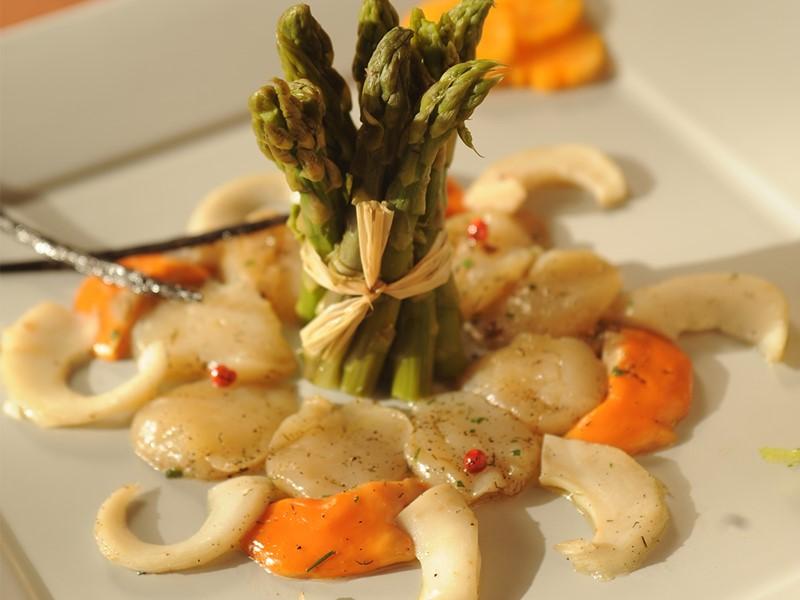 Plat gastronomique de l'Opoa Beach Hotel