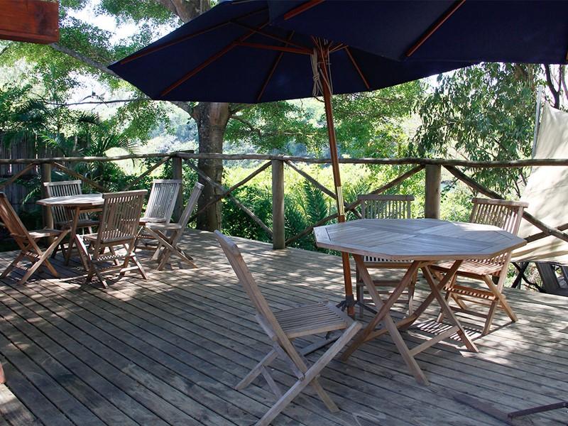 Restaurant d'Otentic Eco Tent Experience à l'île Maurice