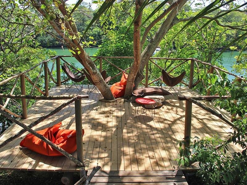 Espace de détente d'Otentic Eco Tent Experience à l'île Maurice