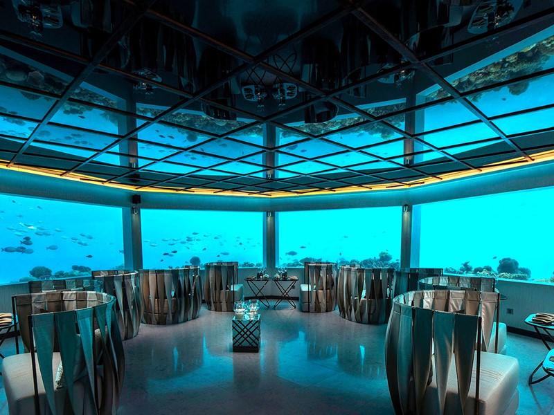 Dînez sous l'eau au restaurant M6m