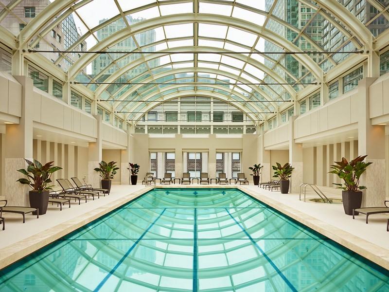 La piscine du Palace Hotel, le premier hôtel de luxe de San Francisco