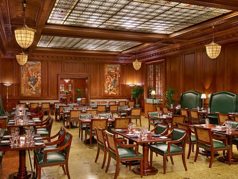 Le restaurant Pied Piper du Palace Hotel aux Etats Unis