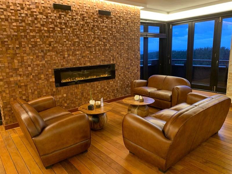 Le salon cosy et chaleureux