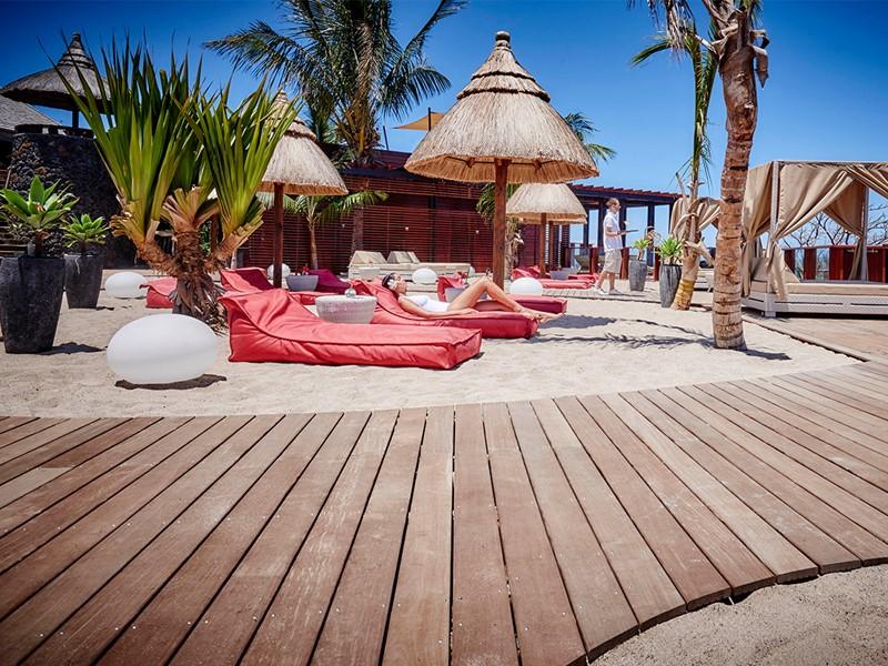 Espace plage du Palm Hôtel & Spa à la Réunion