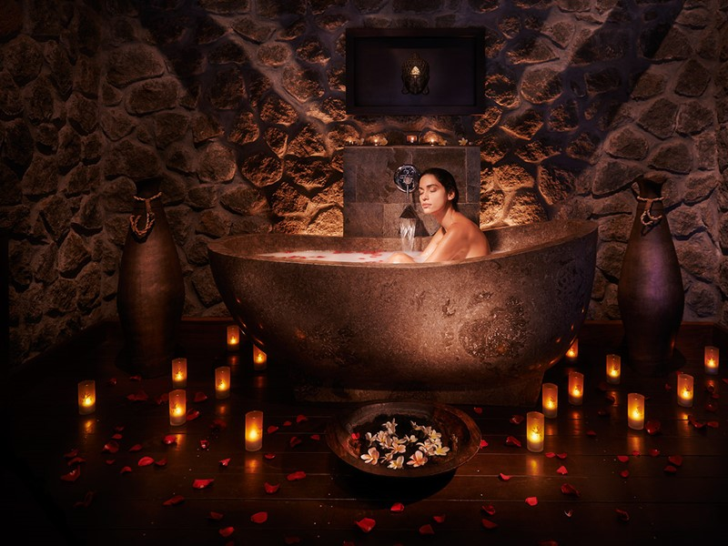 Bain du spa AKEA au Palm Hôtel & Spa à la Réunion
