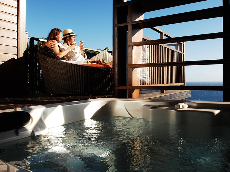 Lodge du Palm Hôtel & Spa à la Réunion - Bain à remous